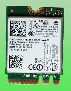 Dual Band Wireless-N 7265 Model: 7265NGW AN 802.11n  M.2  081WMJ Wie neu