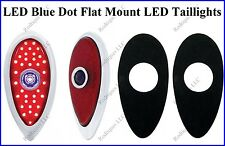 Flat Mount LED Blue Dot Taillights Roll Pan Bumper Custom Chevy Truck F39BD