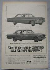 1963 Ford Galaxie 500 & Fairlane 500 Original advert