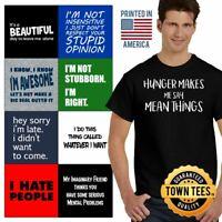 Personality Tee Shirt Attitude T-Shirt Mens Rude TShirts T Shirt For Womens Gift