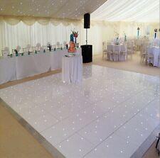 18ft x 18ft White LED Dance Floor, White Gloss Acrylic with 4 Flight Cases