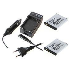 2x Akku und Ladegerät für Olympus FE-4040 X-94 D-710 D-715 VG-120 VG-130