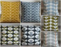 ORLA KIELY CUSHION COVERS, GREY, DANDELION, BLUE, OLIVE, SEAGRASS AND LARGE STEM
