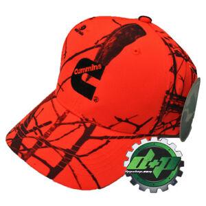 Cummins Mossy Oak blaze orange Camo baseball hat ball cap Dodge diesel gear tree