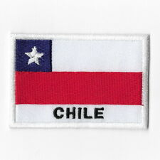 Chile National Flag Iron on Patches Embroidered Applique Badge Emblem
