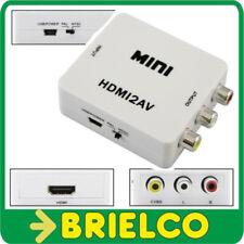 CONVERTIDOR ADAPTADOR HDMI A RCA A/V PAL/NTSC ALIMENTAC 5V CON CABLE USB BD9286