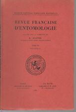 JEANNEL R. / Revue française d'entomologie - Tome VII - Fascicule 2 - 1940