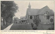 B42/ West Collingswood New Jersey NJ Postcard 1907 M.E. Church White Horse