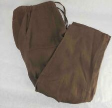 Ermenegildo Zegna Soft Mens Straight Pants Brown Flat Front Pocket 100% Linen 50