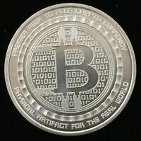 Anonymous Mint 1 Ounce Troy .999 Pure Silver Bitcoin Bullion Round #CO367