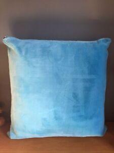 Ikea Kaveldun Large Square Floor Cushion Soft - Blue - Zip Cover
