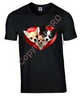 Plus Size Tee Chihuahua Heart Tshirt 3XL- 5XL Dog T-shirt Crew Birthday Gift