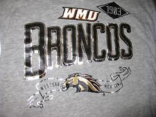 T-SHIRT: Western Michigan University WMU Broncos 1903 Gray Womens Small 4/6 NWT
