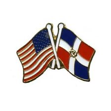 Flags Lapel Hat Pin Tie Tac Usa Flag American Flag Dominican Republic Crossed