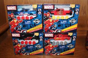 Marvel 4 x 4 Rebels Model Kits Spiderman Iron Man Captain America Black Widow Ne