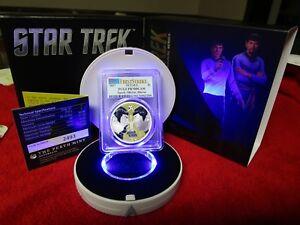 2017 $1 Tuvalu Star Trek Spock Mirror, Mirror 1oz .999 Silver Coin PCGS PR PF 70