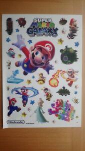 SUPER MARIO GALAXY Stickers Sheet Nintendo 2007