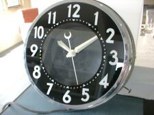 GLO-DIAL ANTIQUE NEON CLOCK BABY MODEL!!! RUNNING CONDITION! ART DECO ERA.
