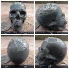 "1.9"" Camouflage Jasper Skull Carved 85.2g 3.0oz Crystal aka Poppy Realistic Camo"