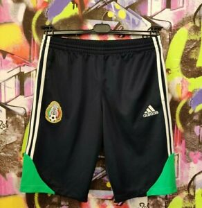 Mexico Soccer National Team Football Training Shorts Adidas 2007 Mens size L