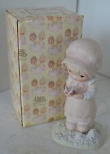 Precious Moments Porcelain Figure 1982 We Are God's Workmanship With Box