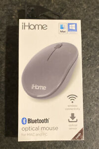 iHome Bluetooth Optical Mouse For MAC And PC, Wireless Connectivity NEW