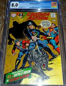 Captain Action #1 CGC 8.0 DC Comics (1968) 1st App Captain Action Boy Silver Age