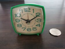 WIND UP MECHANICAL CLOCK GREEN  NAP MADE IN THE USA 1970'S 1980'S
