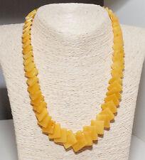 Unique Genuine Baltic Amber Adult Necklace 48.5 cm/19.1 in Egg Yolk