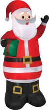 Home Holiday Inflatable Airblown Santa & Gift 6.5' Outdoor Light Up Yard Décor