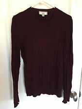 Ami Cableknit Sweater in Burgundy [Size S] Alexandre Mattiussi Wool Crewneck