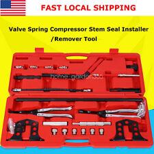 Cylinder Head Valve Spring Compressor Kit Steel Stem Seal Installer Remover Tool