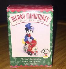 "Disney Mickey Express Hallmark Merry Miniatures ""Mickey's Loco"" Figurine 98 Mib"