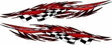 Kart Boat Car Truck Graphics Racing Flag Flames Decals Stickers wrap 2- 50""
