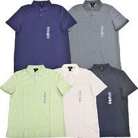 Calvin Klein Polo Shirt Mens Casual Cotton Classic Stripes Solid s m l V090