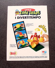 I486-Advertising Pubblicità-1996- LITTLE TIME TRAPS,I DIVERTITEMPO,SGUSCIO SAURO