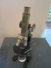 Vintage Optique Laiton Microscope Reichert comme sur la Photo # Couloir