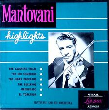 MANTOVANI - HIGHLIGHTS - LONDON LABEL - (3) 45 BOX SET - COPYRIGHT 1950