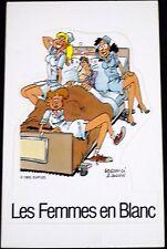 Autocollant BERCOVICI 1993 Dupuis Les femmes en blanc  10x16
