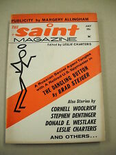 """THE SAINT"" 7/66 FN-VF! CORNELL WOOLRICH, DON WESTLAKE! CHARTERIS `SAINT` STORY!"