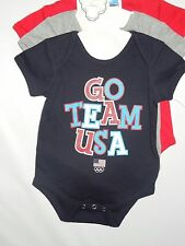 Team USA official Olympic unisex infant one piece lot of 3  Shirts 6-9 month