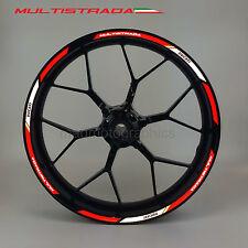Multistrada 1200 reflective motorcycle wheel decals rim stickers stripes Ducati