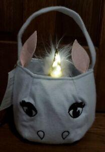 Pottery Barn Kids Unicorn Light Up Horn Trick-Or-Treat Bag NWT! Fast Ship!