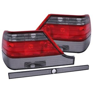 ANZO 221154 Taillights Red/Smoke For 1997-1999 Mercedes Benz S Class W140