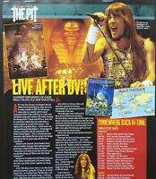 IRON MAIDEN LIVE AFTER DEATH DVD 2008 VTG FULL PAGE UK MAGAZINE ARTICLE CLIPPING