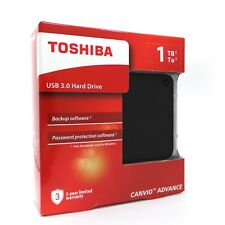 Toshiba Canvio Advance External Portable Hard Drive HDD V9 1TB USB 3.0 Black