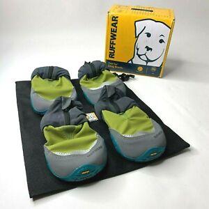 "Ruffwear Polar Trex Dog Paw Snow Boots 3"" Set of 4 FOREST GREEN"