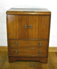 Antique vintage oak millinery linen cabinet