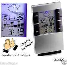 Weather Forecast Clock LCD Display Temperature Thermometer Humidity