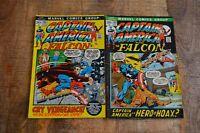 Captain America #152 153 Falcon Scorpion (Marvel Comics, 1972) Lot of 2 VG+ 4.5